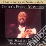 OPERA'S FINEST MOMENTS  (BOX 5 CD- PAVAROTTI-DEL MONACO-DI STEFANO-TEBALDI...E TANTI ALTRI) cd musicale di ARTISTI VARI