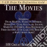 THE MOVIES - 108 GREAT SCREEN HITS cd musicale di ARTISTI VARI