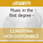 Music in the first degree - cd musicale di Jazz Crime