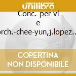 Conc. per vl e orch.-chee-yun,j.lopez c. cd musicale di Mendelssohn/vieuxtem