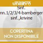 Sinf. nn.1/2/3/4-bamberger sinf.,krivine cd musicale di Brahms