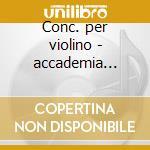 Conc. per violino - accademia bizantina cd musicale di Tartini