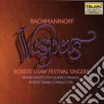 Robert Shaw Festival Singers - Robert Shaw Festival Singers-rachmaninov: Vespri cd musicale di Sergei Rachmaninoff