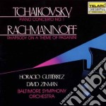 Tchaikovsky: Piano Concerto No. 1 / Rachmaninov: Rhapsody On A Theme Of Paganin cd musicale di Tchaikovsky