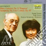 Piano concerto n.5-sinfonia n.5 cd musicale di Beethoven