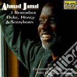 I remember duke, hoagy & strayhorn cd musicale di Ahmad Jamal