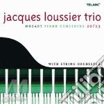 MOZART PIANO CONCERTOS 20/23 cd musicale di LOUSSIER JACQUES TRIO
