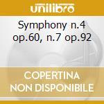 Symphony n.4 op.60, n.7 op.92 cd musicale di Beethoven ludwig van