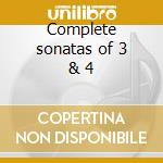 Complete sonatas of 3 & 4 cd musicale di Purcell