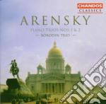 Borodin Trio - Arensky/piano Trios Nos 1 & 2 cd musicale di Arensky