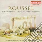 Sinfonie 3 & 4 cd musicale di Roussel