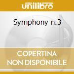 Symphony n.3 cd musicale di Tchaikovsky
