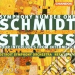 Symphony n.1/four interludes cd musicale di Schmidt/strauss