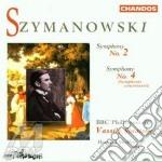 Symphony n. 2 op. 19/symp. 4 cd musicale di Szymanowski