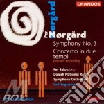 Symphony n.3/conc.in due tempi cd musicale di Norgard