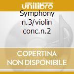 Symphony n.3/violin conc.n.2 cd musicale di Bruch