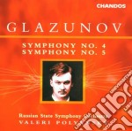 Symphony n.4 & n.5 cd musicale di Alexander Glazunov