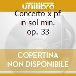 Concerto x pf in sol min. op. 33 cd musicale di Antonin Dvorak