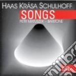 Lieder op.18nn.1>7,quattro lieder su tes cd musicale di Pavel Haas