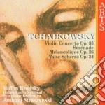 Conc. per vln op.35/serenata op.26 etc cd musicale di Chaikowsky