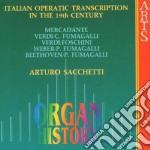 Trascr.per org.da opere 19^sec-sacchetti cd musicale di Artisti Vari