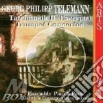 Mus.da tavola/conc.per tromba-pian&forte cd musicale di Telemann