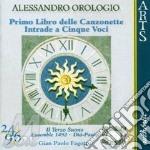Canzonette 1� lib./intrade - gp. fagotto cd musicale di Alessandro Orologio