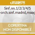 Sinf.nn.1/2/3/4/5 -orch.sinf.madrid,maag cd musicale di F. Mendelssohn