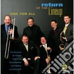 RETURN OF THE LINEUP cd musicale di ONE FOR ALL