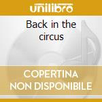 Back in the circus cd musicale di Jonatha Brooke