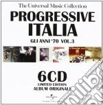 PROGRESSIVE ITALIA 3  BOX 6CD             cd musicale di ARTISTI VARI