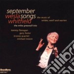 September songs cd musicale di Whitfield Wesla