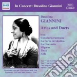 Giannini Dusolina - In Concert: Arie E Duetti cd musicale di Dusolina Giannini