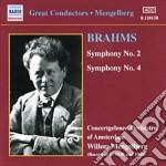 Sinfonia n.2 op.73, n.4 op.98 cd musicale di Johannes Brahms