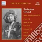 Gigli edition vol.1: registrazioni a mil cd musicale di Beniamino Gigli