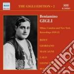 Gigli edition vol.2: registrazioni milan cd musicale di Beniamino Gigli