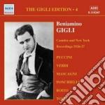 Gigli Beniamino - Gigli Edition Vol.4: Cadmen E New York,registrazioni Del 1926-1927 cd musicale di Beniamino Gigli