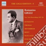 Gigli edition vol.5: new york 1927-28 cd musicale di Beniamino Gigli