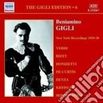 Gigli edition vol.6: new york recording cd musicale di Beniamino Gigli