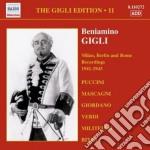 Gigli edition, vol.11: milano, berlino e cd musicale di Beniamino Gigli