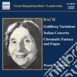 Variazioni goldberg, concerto italiano, cd musicale di Johann Sebastian Bach