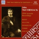 John Mccormack - Edition Vol.1: The Acoustic Recordings 1910 cd musicale di John Mccormack