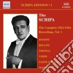 Schipa Tito - Schipa Edition, Vol.1: 1922-1924 cd musicale di Tito Schipa