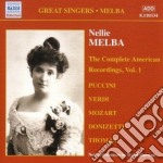 The complete american recordings, vol.1 cd musicale di Nellie Melba