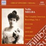 The complete american recordings, vol.1 cd musicale di Nellie Melba