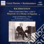 Concerto x pf n.1 op.1, n.4 op.40, rapso cd musicale di Sergei Rachmaninov
