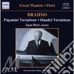 Brahms-paganini variations cd musicale di PETRI