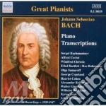 Piano transcriptions cd musicale di Johann Sebastian Bach