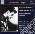 Concerto x pf n.2 op.18, rapsodia su un cd musicale di Sergei Rachmaninov