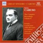 Integrale delle registrazioni vol.8 cd musicale di Enrico Caruso